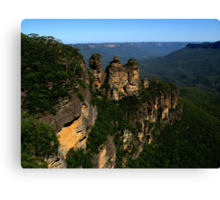 The Legend of the Three Sisters Canvas Print