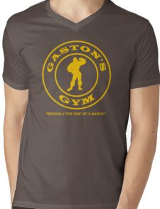 Gaston's Gym - Roughly the Size of a Barge Mens V-Neck T-Shirt