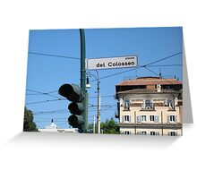 del Colosseo Greeting Card