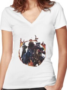 The 4 Knights Women's Fitted V-Neck T-Shirt