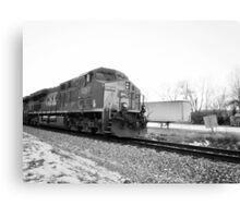 PARKED TRAIN Canvas Print