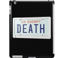 government plates - death grips iPad Case/Skin