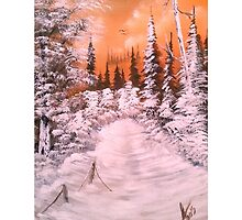 Sunset Winter Snow by Collin A. Clarke