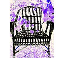 Old Wicker Chair Photographic Print