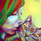 """Evi and the cat"" by Helenka"