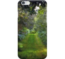 Green Lush English Avenue iPhone Case/Skin