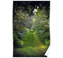 Green Lush English Avenue Poster
