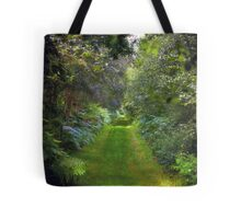 Green Lush English Avenue Tote Bag