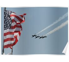 Thunderbirds & Old Glory Poster