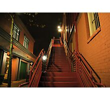 Stairway in the Dark Photographic Print
