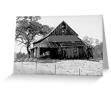 Yosemite Barn Greeting Card