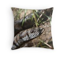 Rosy Boa Throw Pillow