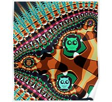 Patterns and Owls Poster