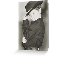 Eat your heart out Zorro!! Greeting Card