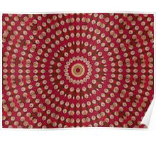 Red Gold Yellow Star Mandala Poster