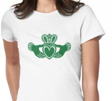 Celtic claddagh Womens Fitted T-Shirt