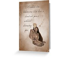 Pocahontas inspired valentine. Greeting Card