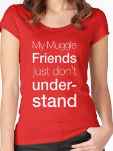 Muggles Women's Fitted Scoop T-Shirt
