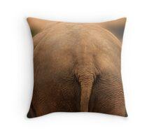Elephant Butt Throw Pillow