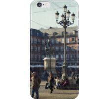 A relaxing cup of café con leche en la Plaza Mayor iPhone Case/Skin