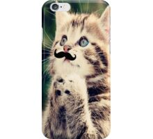 Mustache Kitten iPhone Case/Skin