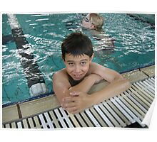 Boy in a pool Poster