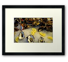 County Down Oysters and Louisiana Sauce! Framed Print