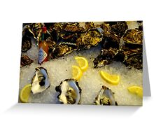 County Down Oysters and Louisiana Sauce! Greeting Card