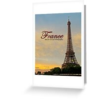 France - Tower Sunset Greeting Card