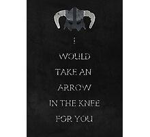 Skyrim inspired valentine. Photographic Print