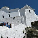 Greek Churches by Mike Paget