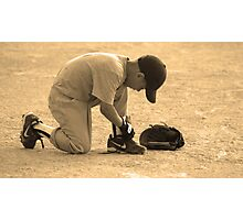 Baseball Days Photographic Print
