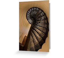 Spiral Stairs Of Door County Lighthouse Greeting Card
