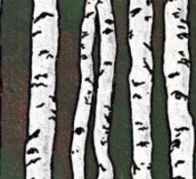 Dark Green Birch Forest Sticker