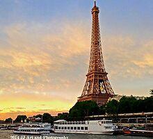 France - Eiffel Tower Sunset by jezebel521
