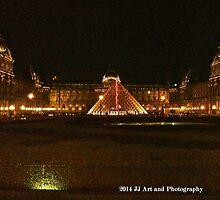 France - Louvre Night by jezebel521