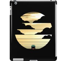 Driving into the sunset funny geek nerd iPad Case/Skin