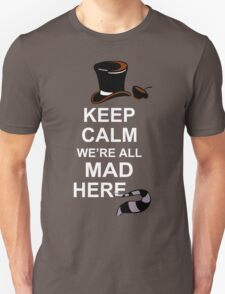 Keep Calm, We're All Mad Here Funny Geek Nerd T-Shirt