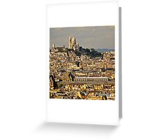 France - Sacre Coeur and City Greeting Card