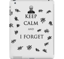 Keep Calm and I Forget The Silence iPad Case/Skin