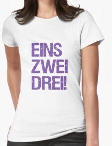 Eins Zwei Drei-Black Womens Fitted T-Shirt
