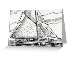 Sail away. Greeting Card