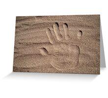 Handprint in sand Greeting Card