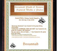 Hosanah Plank o' Honors by Thomas Josiah Chappelle