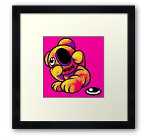 Missing Eye Teddy Bear Bright Framed Print