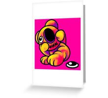 Missing Eye Teddy Bear Bright Greeting Card