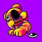 Missing Eye Teddy Bear Bright by Sookiesooker