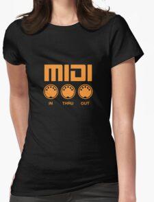Midi  Orange Womens Fitted T-Shirt