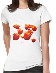 Fire flowers Womens Fitted T-Shirt