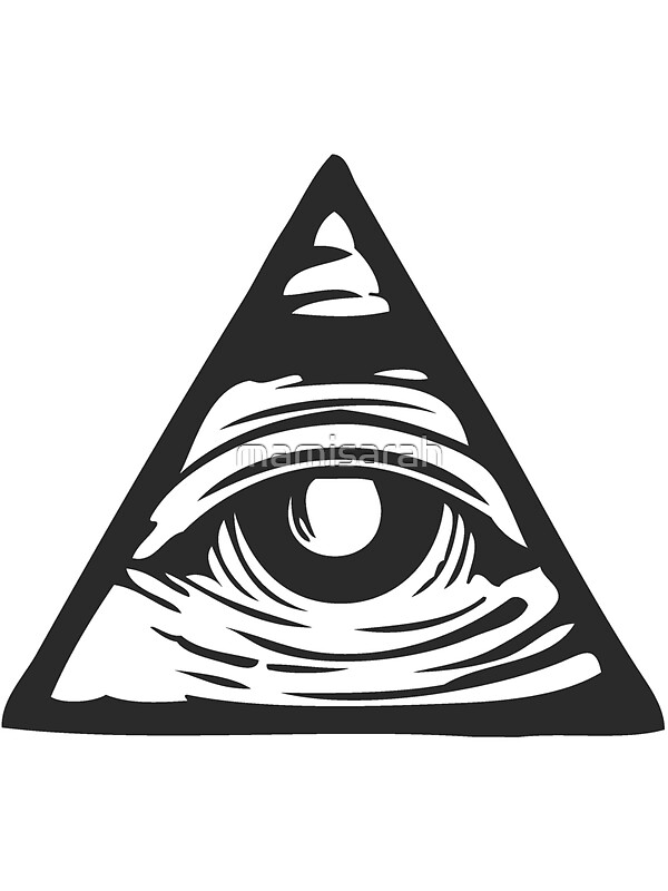 "Illuminati Triangle Eye Drawing ""Illuminati eye&q..."